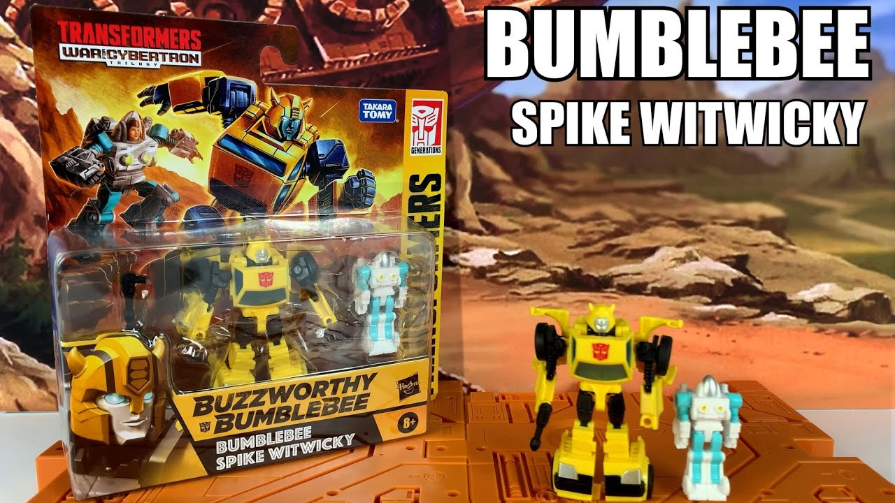 Transformers Buzzworthy Bumblebee and Spike Witwicky Unboxing and Review By Enewtabie