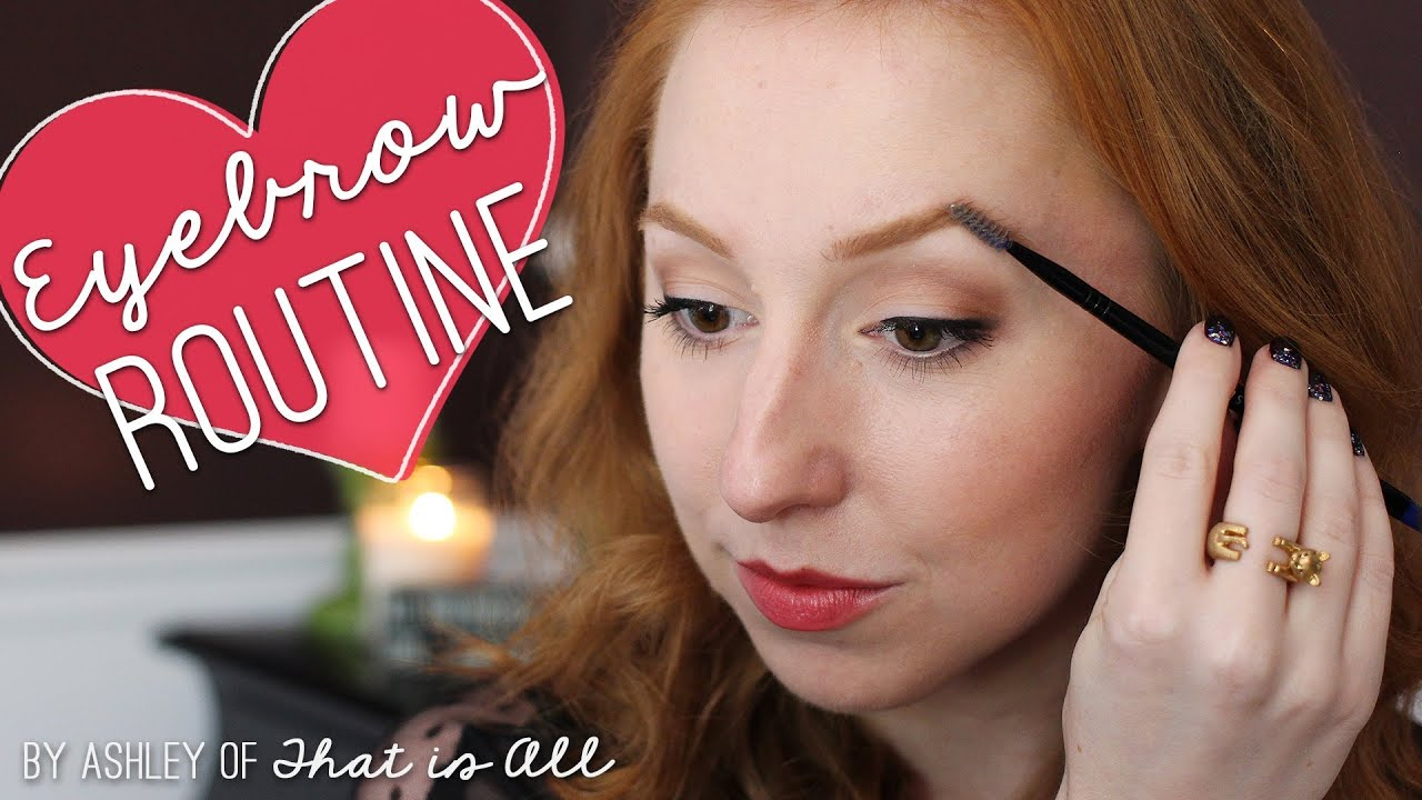 Eyebrow Routine For Redheads Youtube