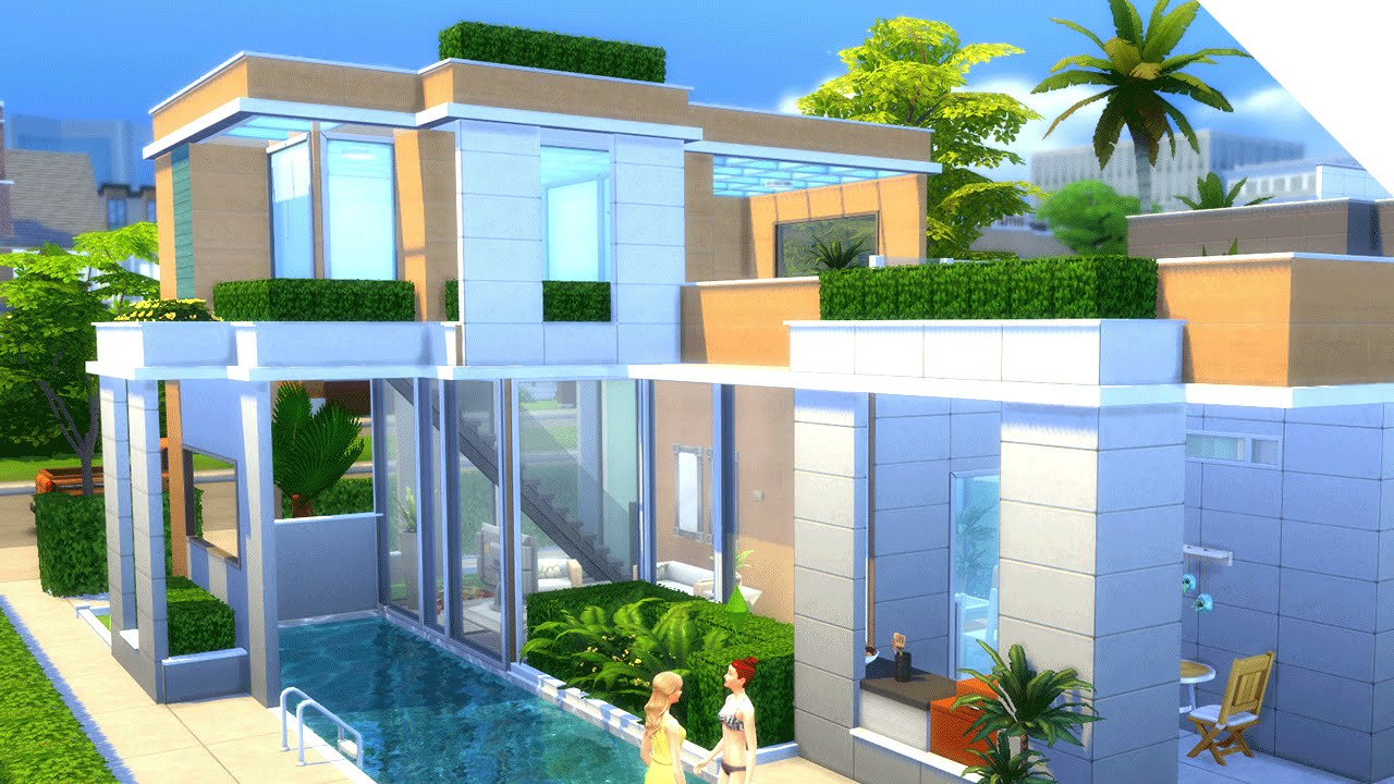 Good The Sims 4 Build | GLASS ROOF HOUSE   YouTube