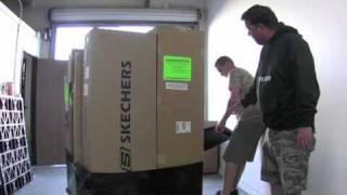 Trade show shipping proper pallet for international logistics.