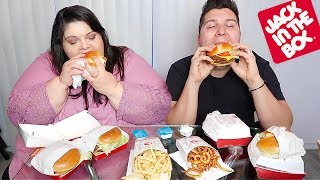 Hungry Fat Chick's Favorite Jack In The Box Meal • MUKBANG