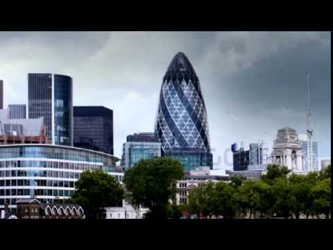 stock footage london skyline shot from the south bank for the river thames