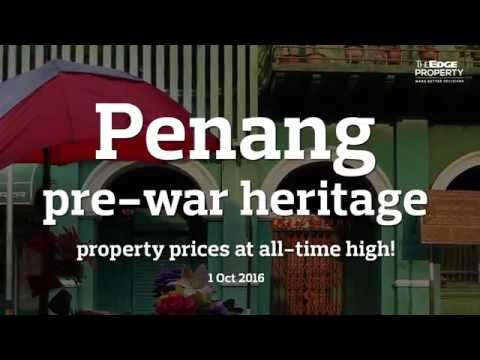 Penang pre-war heritage property prices at all-time high!