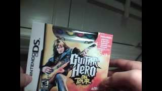 Nintendo DS Guitar Hero On Tour Unboxing!