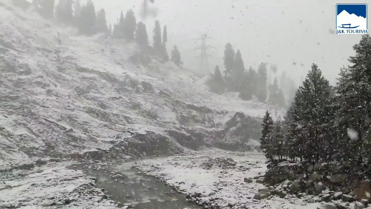 Season's first Snowfall in Kashmir valley.