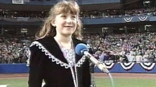 WS1996 Gm6: Skleros performs the national anthem