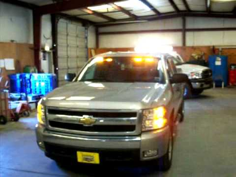 chevy silverado with strobe kit and phantom led lights youtube. Black Bedroom Furniture Sets. Home Design Ideas