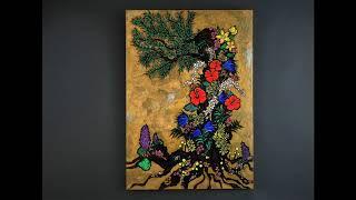 現代絵画作家 オカジマヨシコさん 「女性が見つめる燃える金」展 : てのひら美術館主催