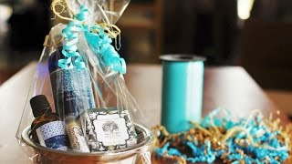 gift wrapping idea how to wrap a small gift set