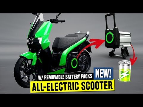 10 New Electric Scooters W/ Removable Batteries For Faster And Smarter Charging