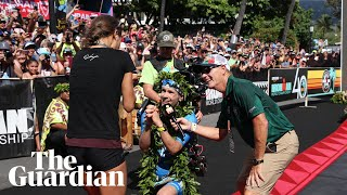 Ironman winner proposes to girlfriend after breaking course record