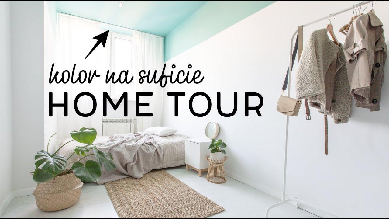 Odważne kolory na suficie | HOME TOUR | Wnętrza Zewnętrza