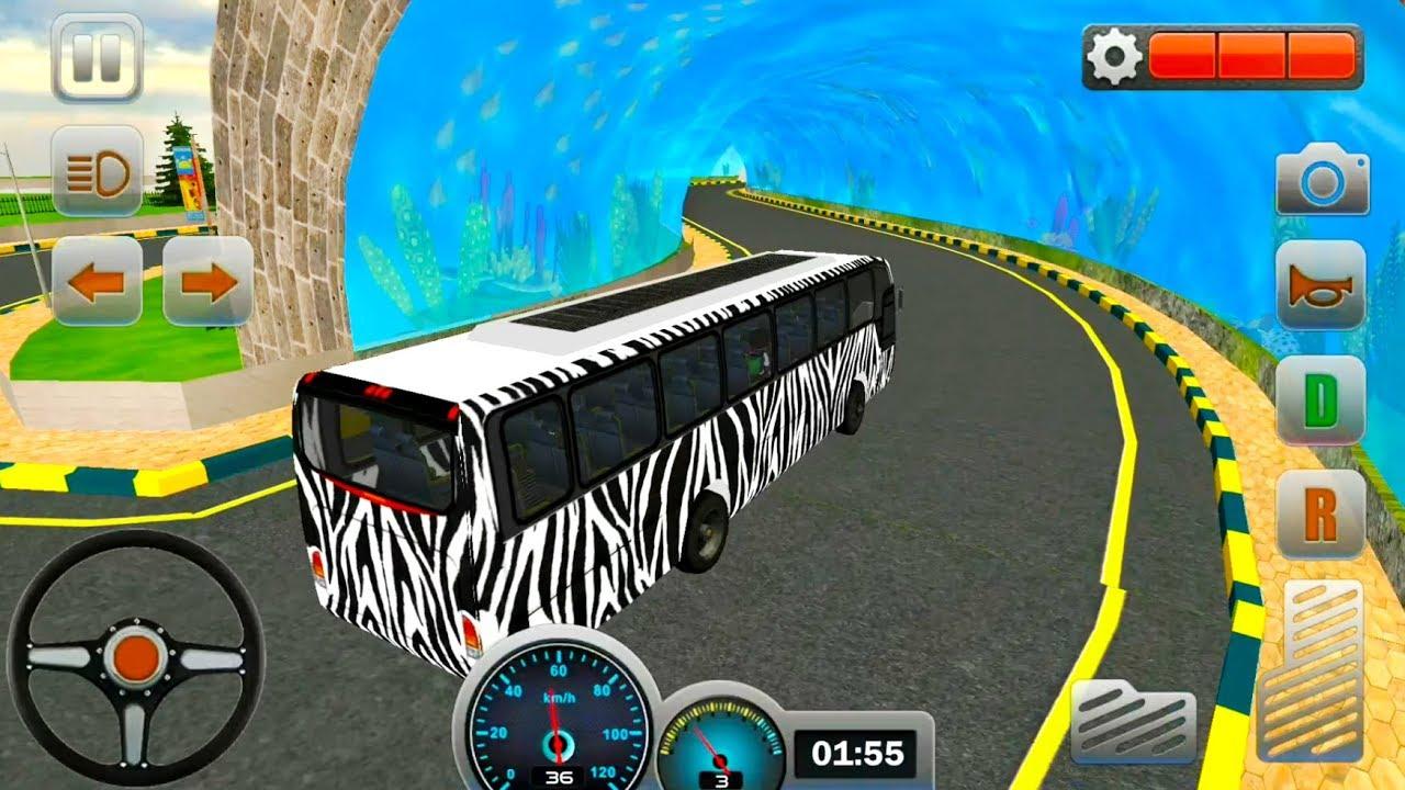 Zebra Bus Simulator 2019 Safari Tour Bus - Android iOS Gameplay
