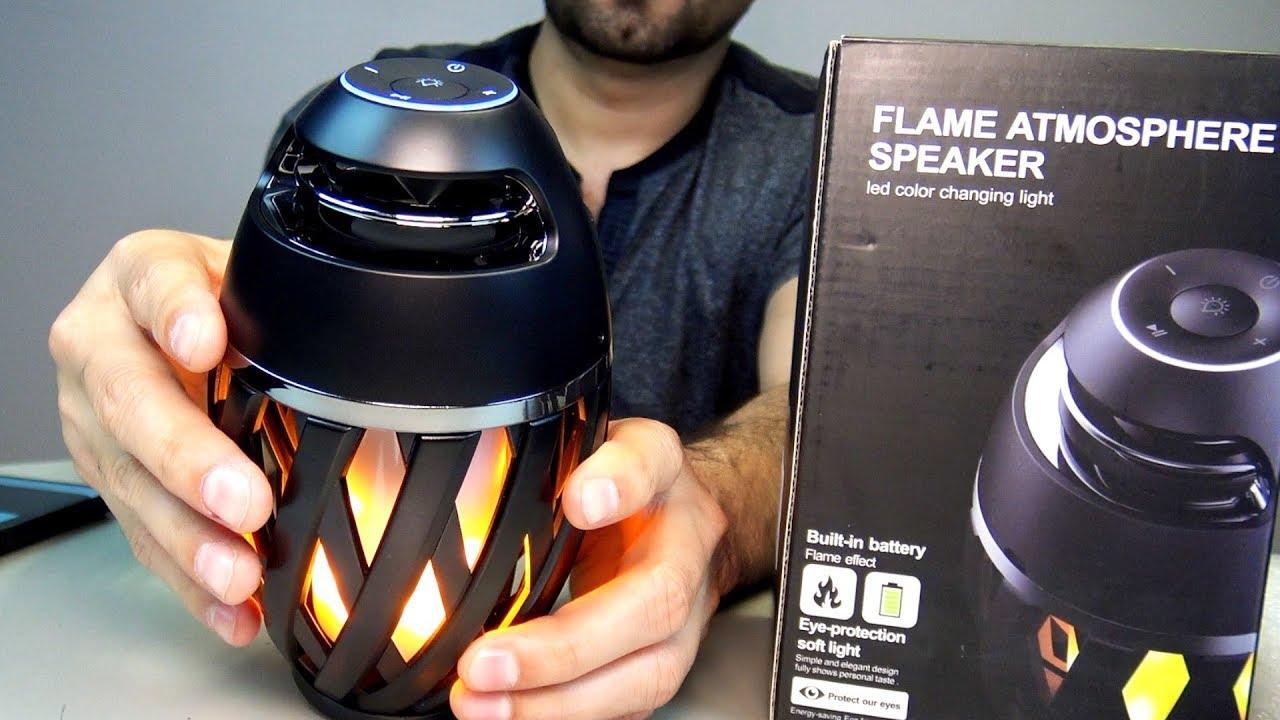 NULED Flame Atmosphere Bluetooth Speaker, Pair 2 Speakers for