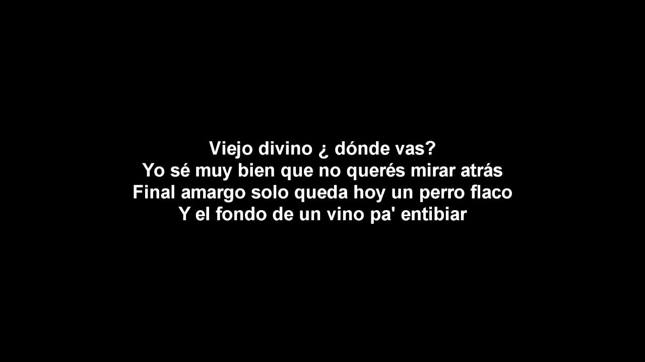 Letra EL VIEJO de La Vela Puerca - YouTube