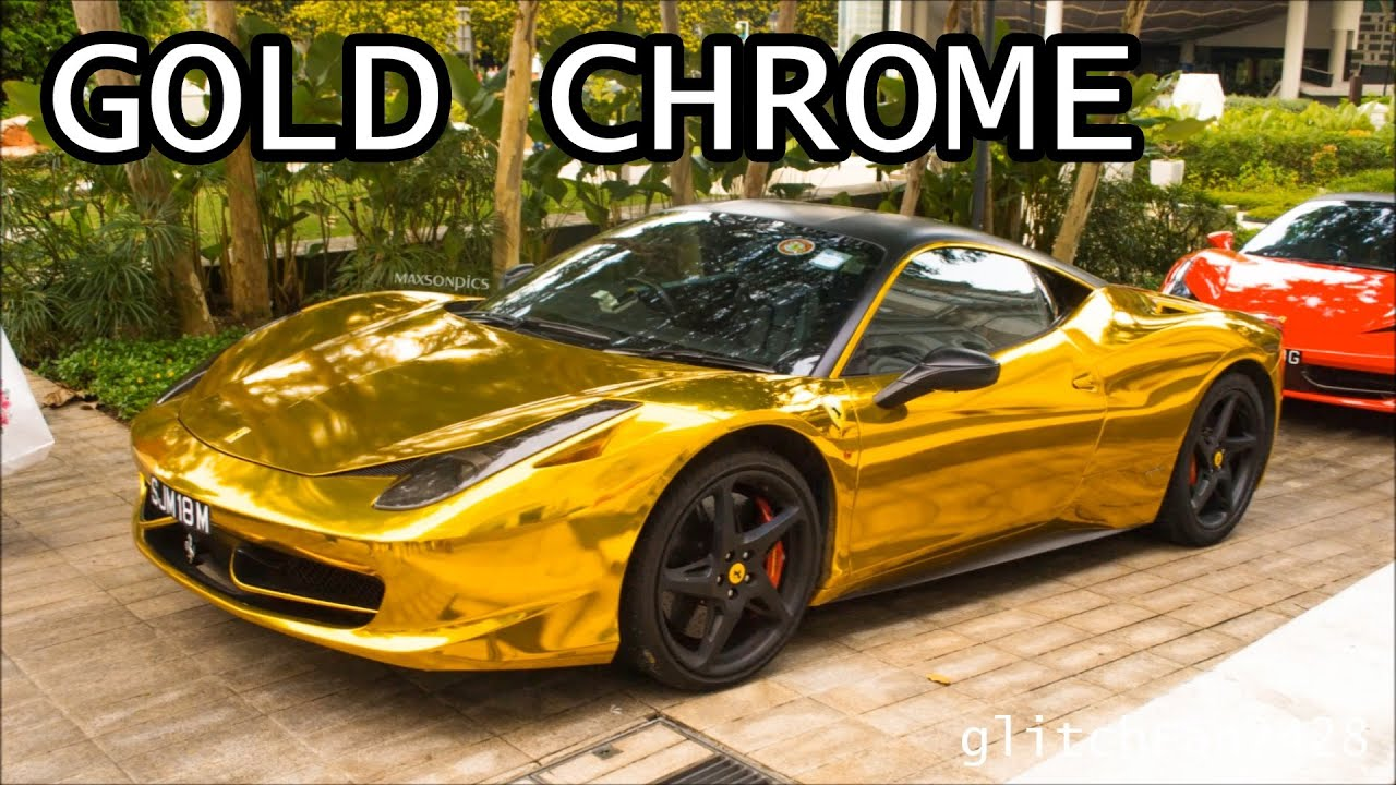 Car Parking Wallpaper Gold Chrome Ferrari 458 Italia Youtube