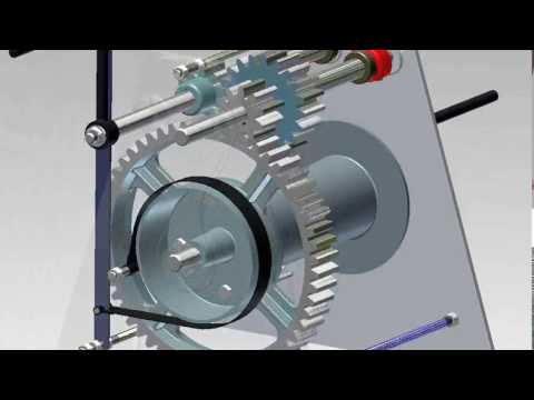 Hand Winch Animation - Autodesk Inventor