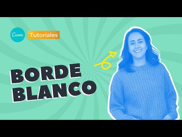 Cómo poner un Borde Banco en fotos con Canva | Aprende Canva con Diana Muñoz