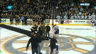 Bruins surprise parents with son home from Afghanistan 11/12/11