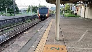 【HB-E300系】快速海里新潟行 村上駅到着
