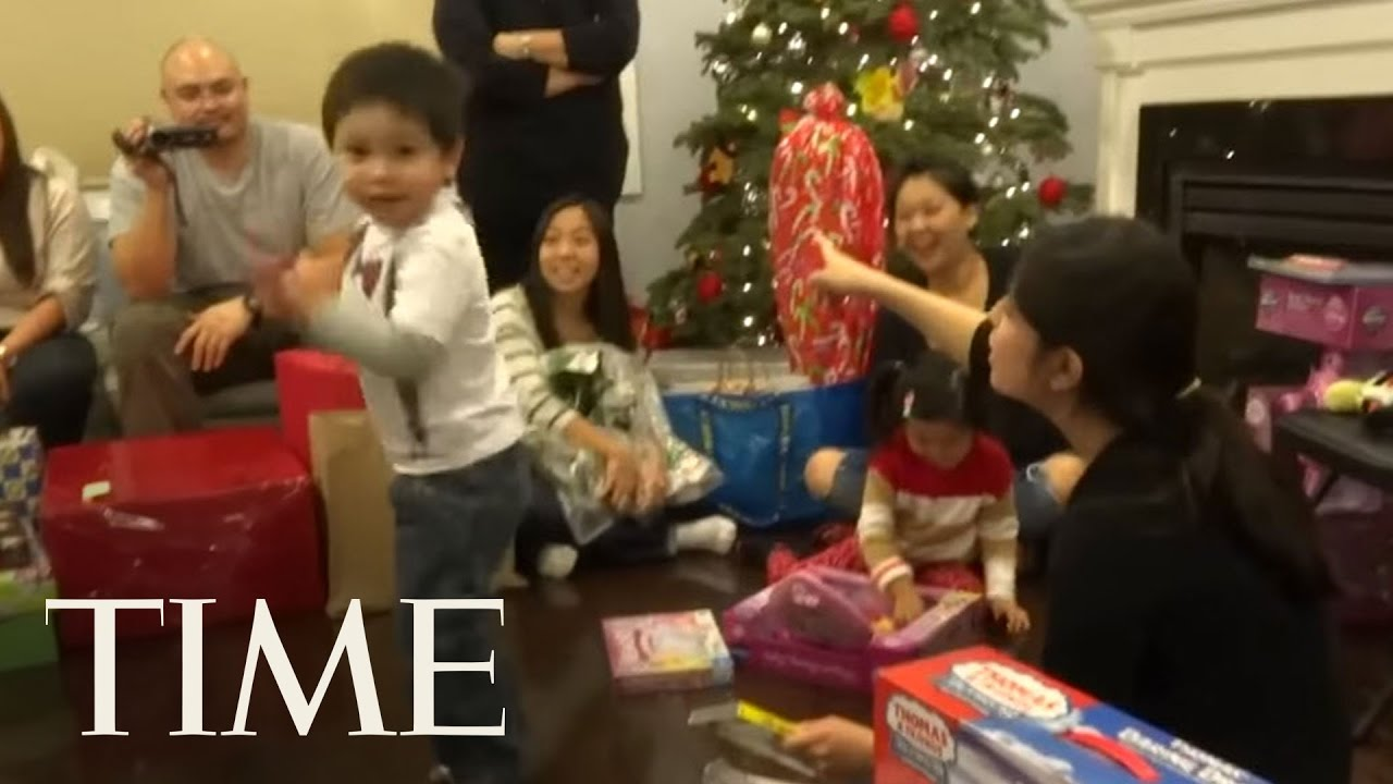 the best kids reactions to opening chrismas presents time youtube