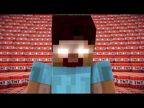 500,000 TNT VS HEROBRINE | Minecraft