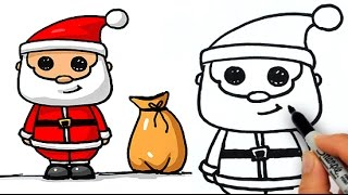 How to Draw a Cute Santa Claus Easy for Beginners