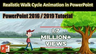Easy Method of Creating Animation Scene in PowerPoint 2016 Tutorial | The Teacher