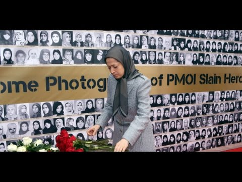 Maryam Rajavi visits exhibition of Iranian women's struggle for freedom and equality –March2017