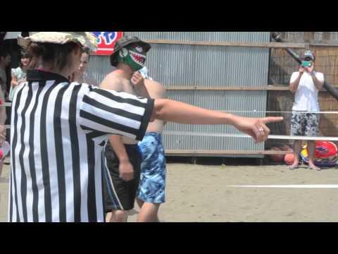 信州プロレス「谷浜海水浴場マッチ」第1試合