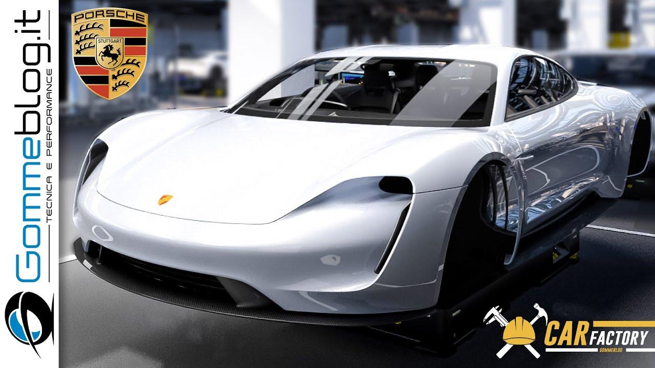 2022 Porsche Taycan PRODUCTION LINE– German Electric Sports Car Factory
