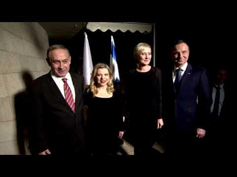 PM Netanyahu hosts Polish President for Dinner at the PM's Residence