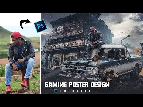 Days Gone Game Poster | Photoshop Tutorial | How To Create A Game Poster In Photoshop | Sony Jackson thumbnail