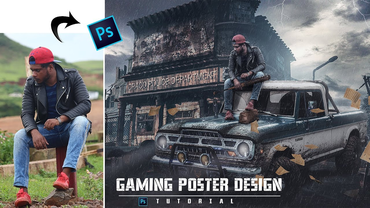 Days Gone Game Poster | Photoshop Tutorial | How To Create A