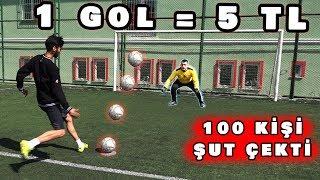 HALI SAHA'DA PARA DAĞITMAK (1 GOL = 5 TL ) *Penaltı*