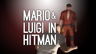 Mario and Luigi in Hitman Gameplay (Super Mario Bros in Hitman - Sapienza, Italy Level)