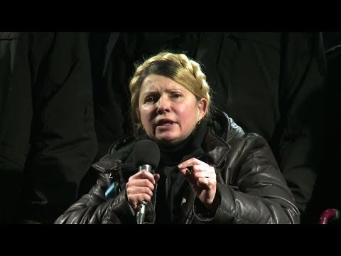 Tymoshenko calls on Ukraine protesters to keep up the fight