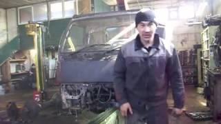 устанавливаем передний мост от ГАЗ-66.