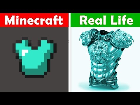 DIAMOND CHESTPLATE IN REAL LIFE! Minecraft vs Real Life animation CHALLENGE