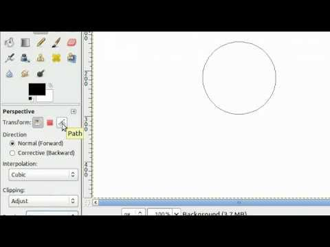 how to cut paths in gimp
