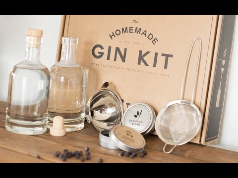 DIY Gin By The HomeMade Gin Kit The Grommet