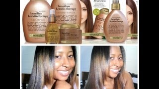 Part 2| Results:Organix Brazilian Keratin Therapy Results on Black Hair
