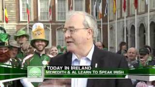 Meredith, Al Learn Gaelic On 'The Today Show' (St. Patrick's Day)