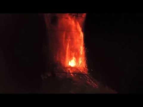 Volcan Villarrica, erupcion 2015 Full HD, el mejor registro