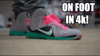 South Beach Lebron 9 ON FOOT Review in 4k