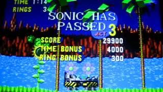 1 часть видеопрохождения игры sonic the hedgehog