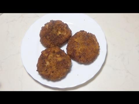 Картофельные крокеты с сыром и колбасой