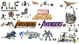 Lego Avengers Infinity War & Avengers Endgame Compilation of all Sets