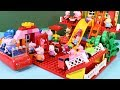 Peppa Pig Blocks Mega House Construction Sets - Lego Duplo House With Water Slide Toys For Kids #7