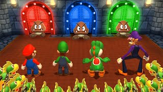 Mario Party 9 MiniGames - Mario Vs Luigi Vs Waluigi Vs Peach (Master Cpu)